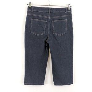 Kim Rogers Petite 8 Crop Jeans Dark Rinse